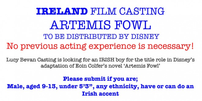 Artemis Fowl Movie IRELAND FILM CASTING! | Artemis Fowl