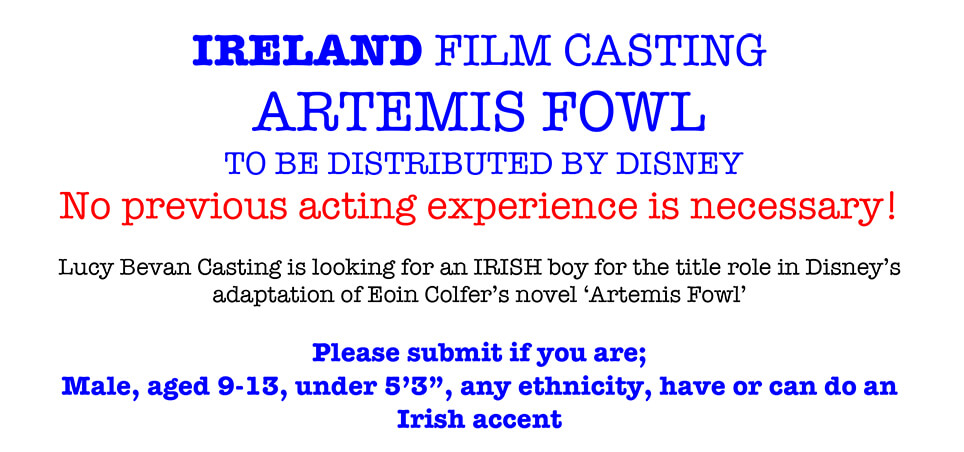 Artemis Fowl Movie IRELAND FILM CASTING! | Artemis Fowl Confidential