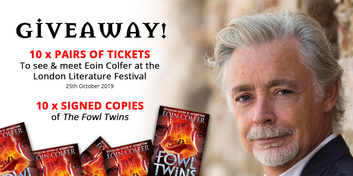 Win Tickets to see Eoin Colfer at the London Literature Festival! | Artemis Fowl Confidential